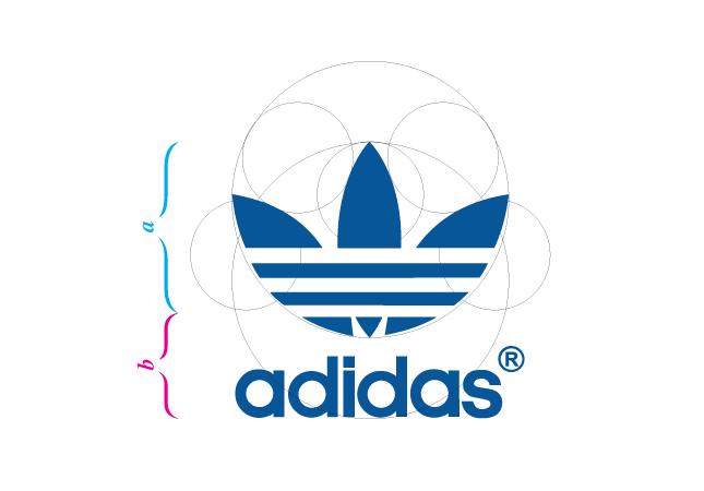 adidas logo - golden ratio