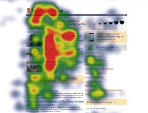 Mapa de calor mostrando un patrón de F