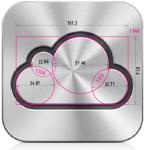 icloud logo - golden ratio