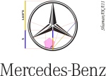 mercedes benz logo - golden ratio