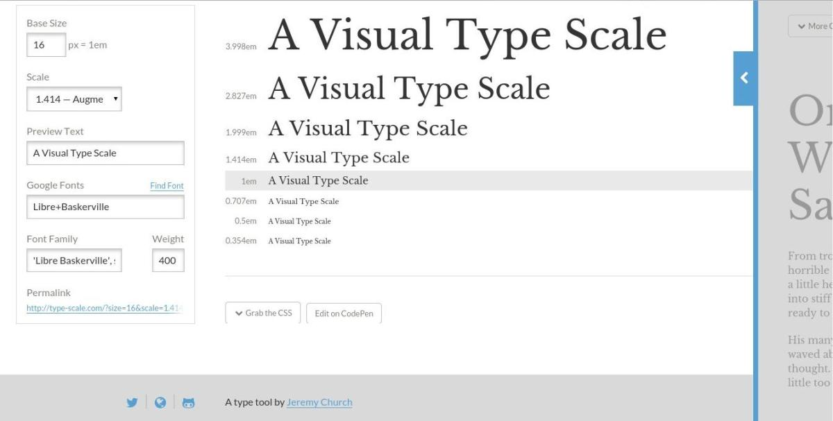 Visual Type Scale