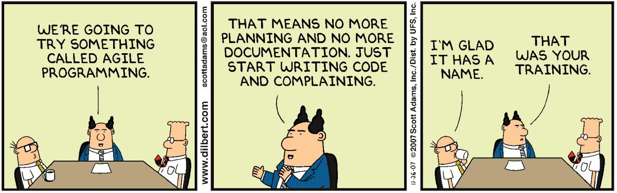 Nosotros no usamos UML, nosotros somos ágiles
